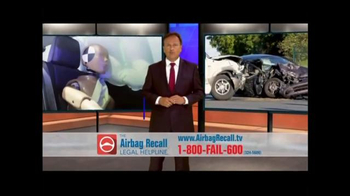 The Airbag Recall Legal Helpline TV Spot, 'Airbag Explosion'