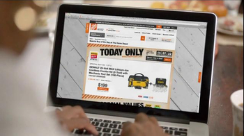 The Home Depot Cyber Monday TV Spot, 'Online Only, Everyday' thumbnail