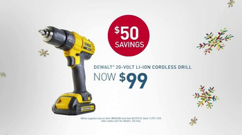 Lowe's Black Friday Deals TV Spot, 'Tools and Gifts'