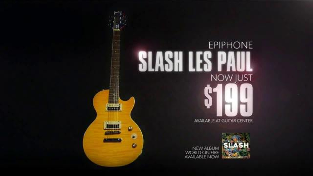 guitar center black friday sale tv commercial 39 greatest feeling 39 featuring slash. Black Bedroom Furniture Sets. Home Design Ideas