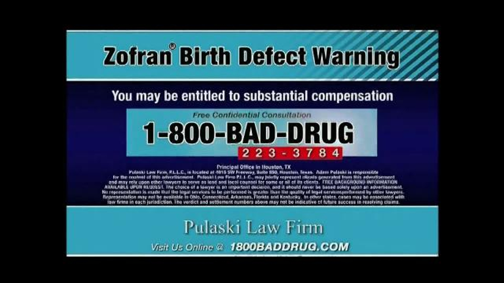 Zofran Birth Defects Commercial