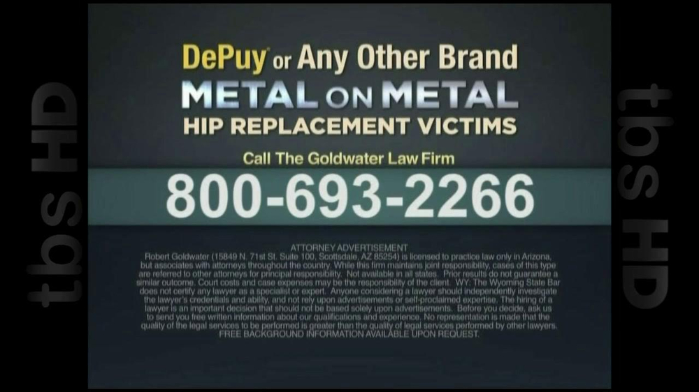 GoldWater Law Firm TV Spot For Hip Repalcement - Screenshot 7