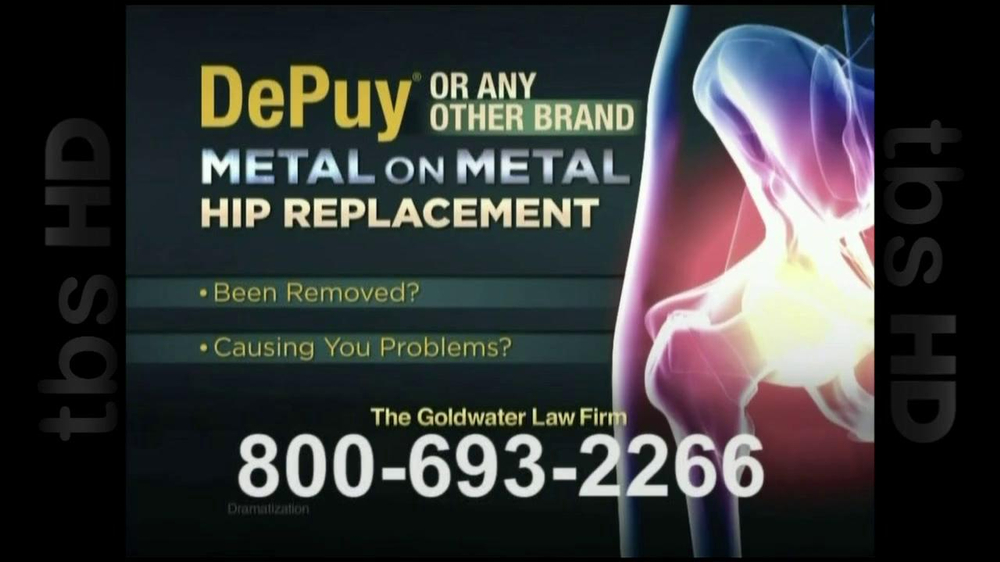 GoldWater Law Firm TV Spot For Hip Repalcement - Screenshot 2