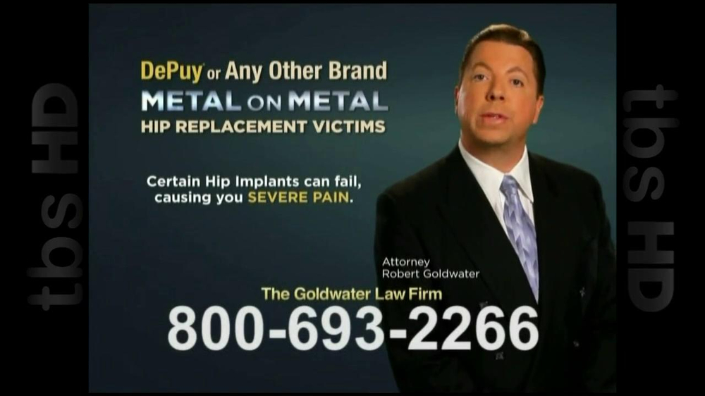 GoldWater Law Firm TV Spot For Hip Repalcement - Screenshot 3