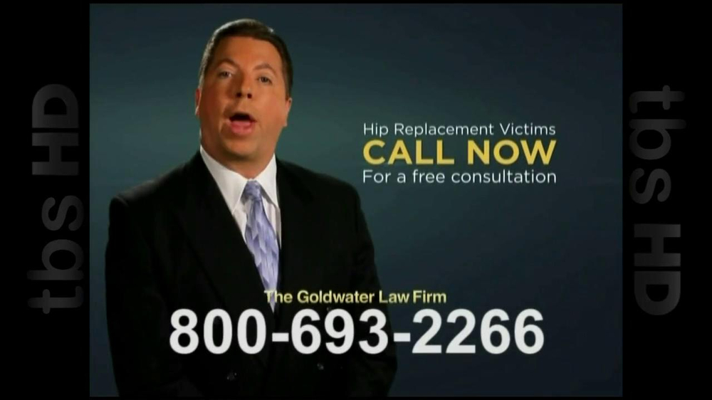 GoldWater Law Firm TV Spot For Hip Repalcement - Screenshot 5