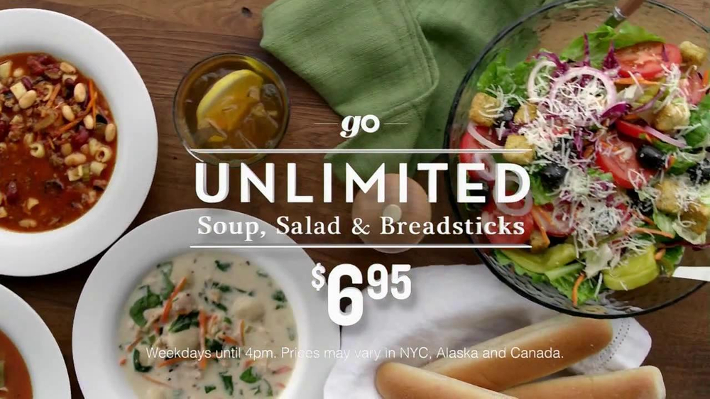 unlimited soup and salad olive garden olive garden unlimited salad and breadsticks tv