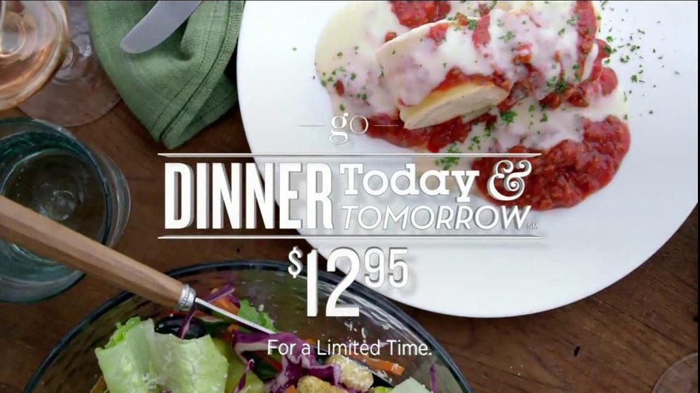 Olive Garden Tv Commercial 39 Dinner Today Dinner Tomorrow 39