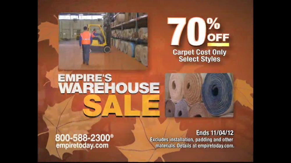 Empire today warehouse sale tv commercial for Abc carpet outlet sale