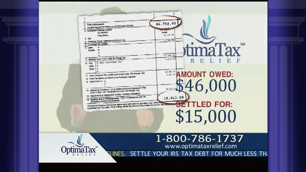 Optima Tax Relief TV Commercial, 39;IRS Forgiveness39;  iSpot.tv