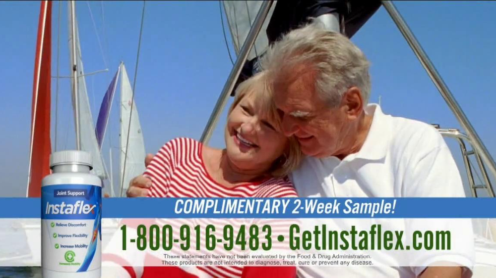 Instaflex TV Spot, 'Complimentary Sample: First 100 Callers' - Screenshot 4