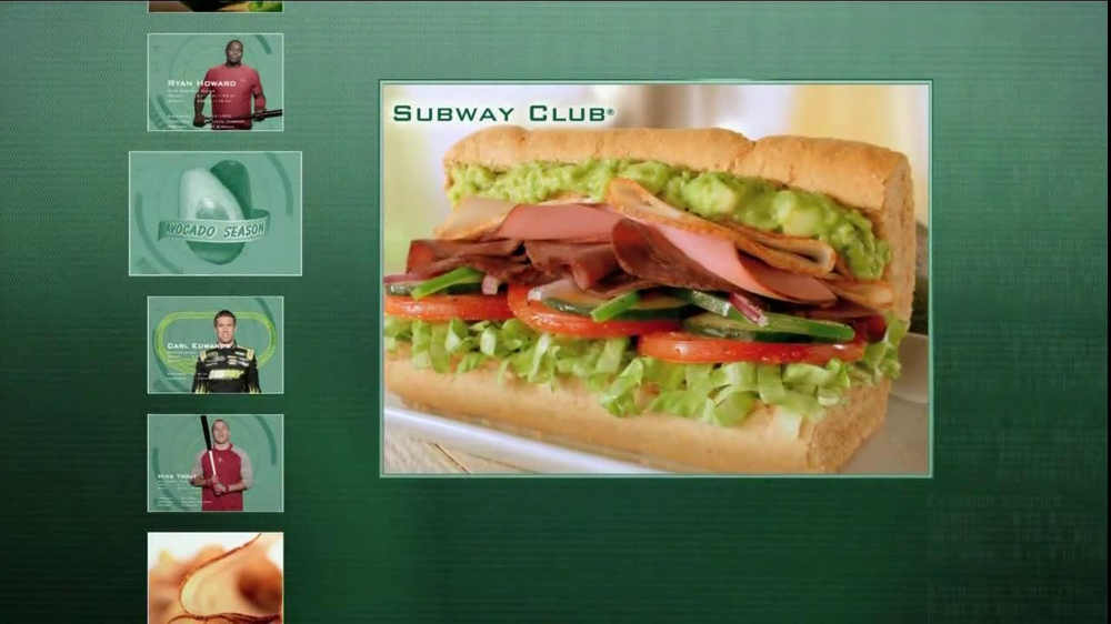subway tv spot 39 avocado season 39 ft ryan howard mike. Black Bedroom Furniture Sets. Home Design Ideas