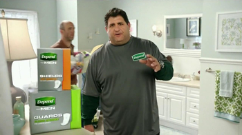 Depend Shields and Guards TV Spot Featuring Tony Siragusa