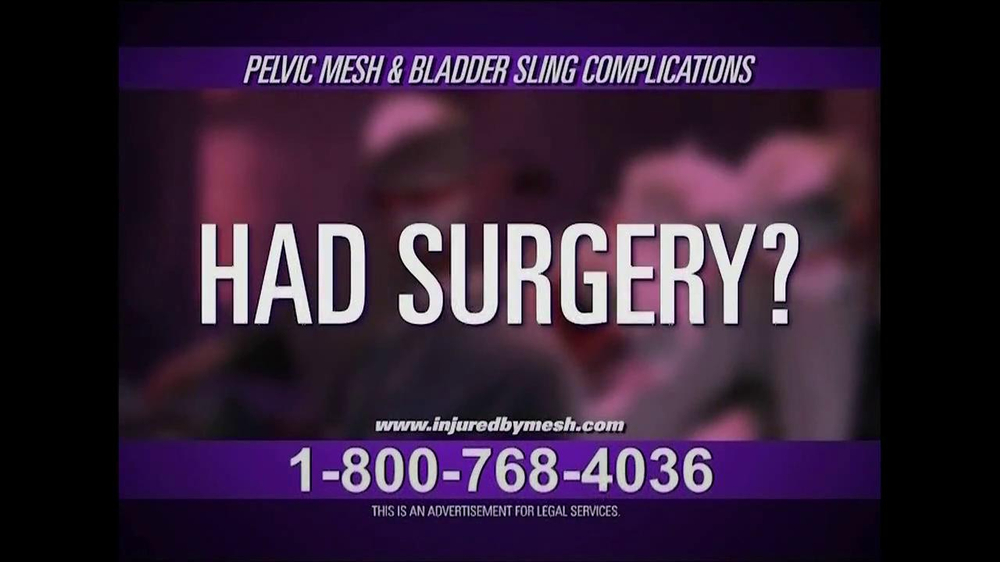 Pulaski Law Firm >> Pelvic Mesh and Bladder Sling Complications TV Spot ...