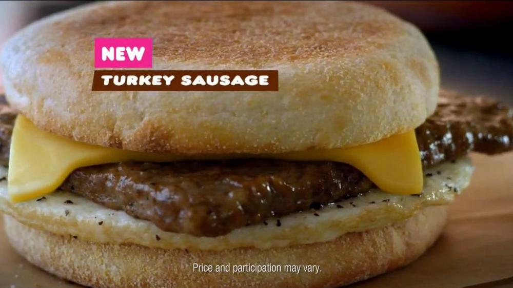 Dunkin' Donuts Turkey Sausage Breakfast Sandwich TV Commercial, 'Try ...