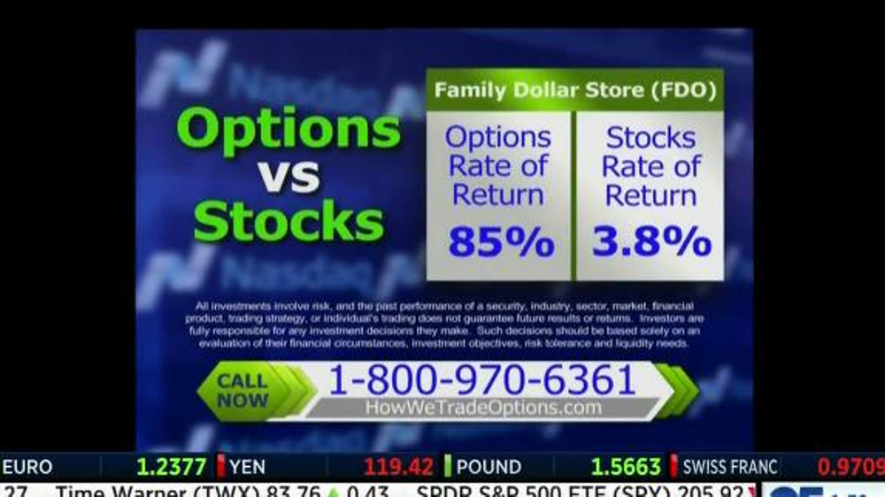 Trade stock vs options