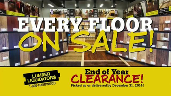 Lumber Liquidators End of Year Clearance Sale TV Spot