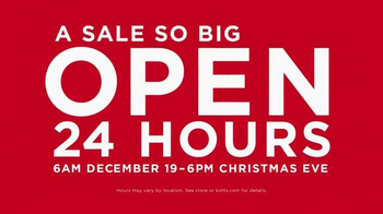 Kohl's TV Spot, 'Open 24 Hours'