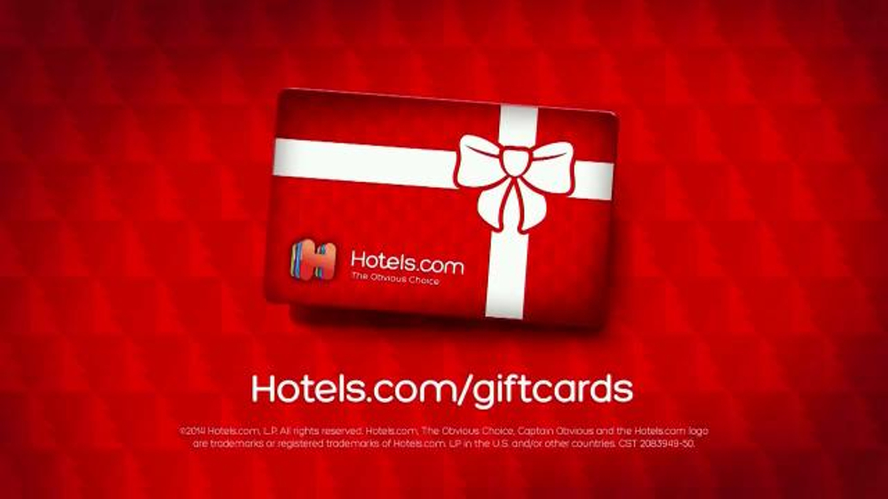 Hotels com tv commercial give the gift of gift cards ispot tv