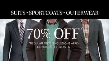 JoS. A. Bank TV Spot, 'Deals on Suits, Sportcoats and Outwear'