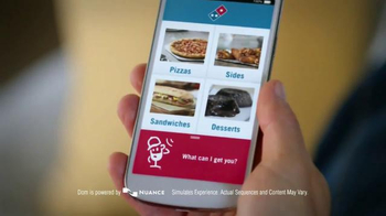 Domino's Voice Ordering App Pizza TV Spot, 'It's Football Sunday'