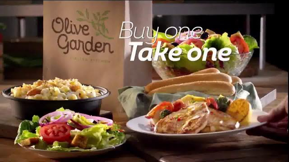 Olive garden buy one take one tv commercial 39 double the delicious 39 What time does the olive garden close