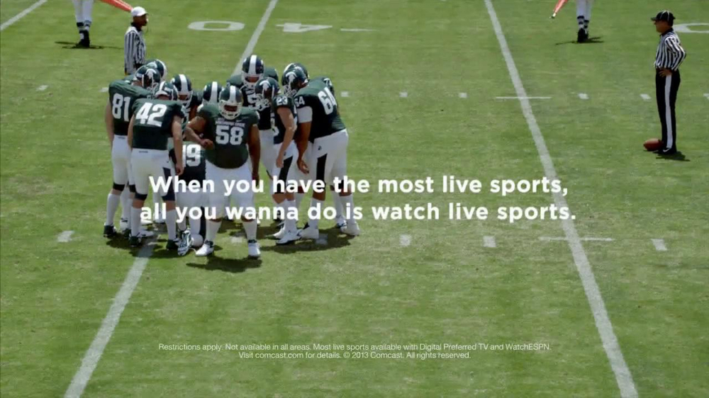 Xfinity Most Live Sports TV Spot, 'Huddle' - Screenshot 10