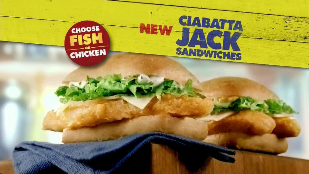Long john silver 39 s ciabatta jack sandwiches tv commercial for What kind of fish does long john silver s use