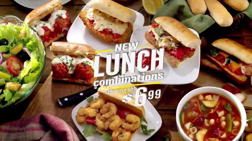 Olive garden lunch combination tv spot 39 break lunch block What are the lunch hours for olive garden
