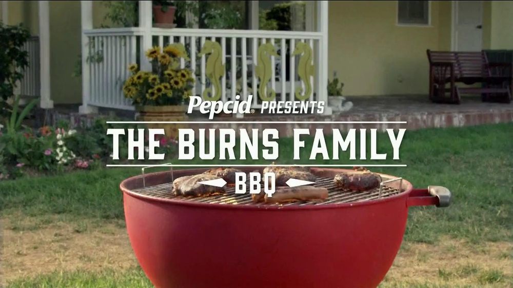 Pepcid Complete TV Spot, 'The Burns Family BBQ' Featuring Richard Riehle - Screenshot 1