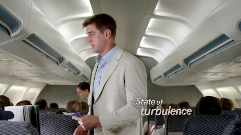 State Farm Discount Double Check TV Spot, 'Turbulence' Feat Aaron Rodgers - Screenshot 1