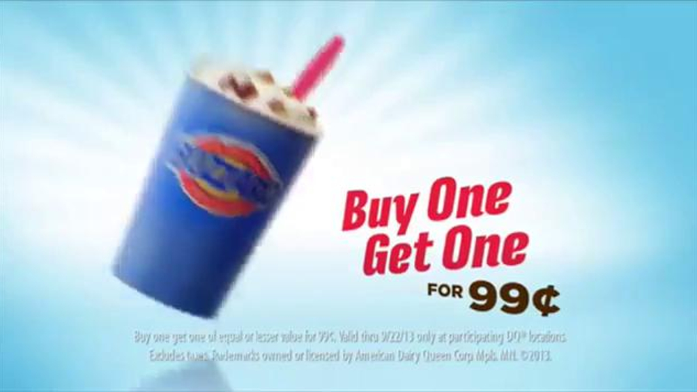 Dairy Queen Blizzards TV Spot, 'Buy One, Get One for 99 Cents' - Screenshot 10