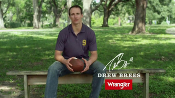 Wrangler Five-Star Premium Denim TV Spot, 'Comfort' Featuring Drew Brees