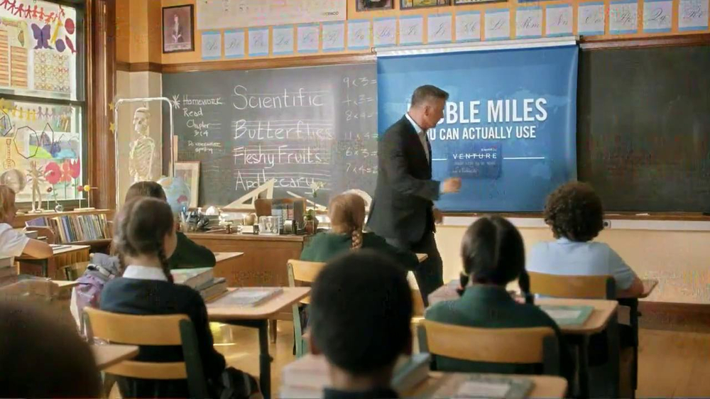 Capital One Venture TV Spot, 'Teacher' Featuring Alec Baldwin - Screenshot 6