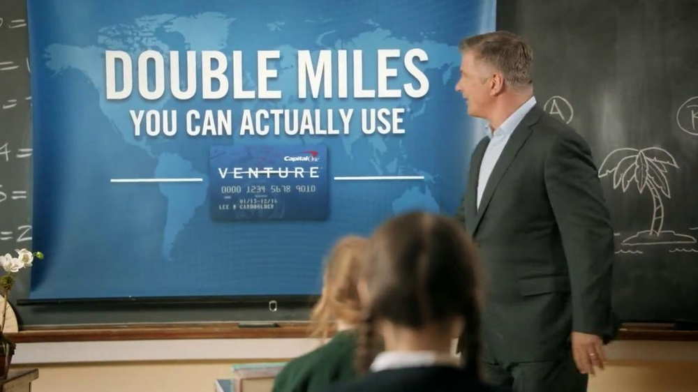 Capital One Venture TV Spot, 'Teacher' Featuring Alec Baldwin - Screenshot 8