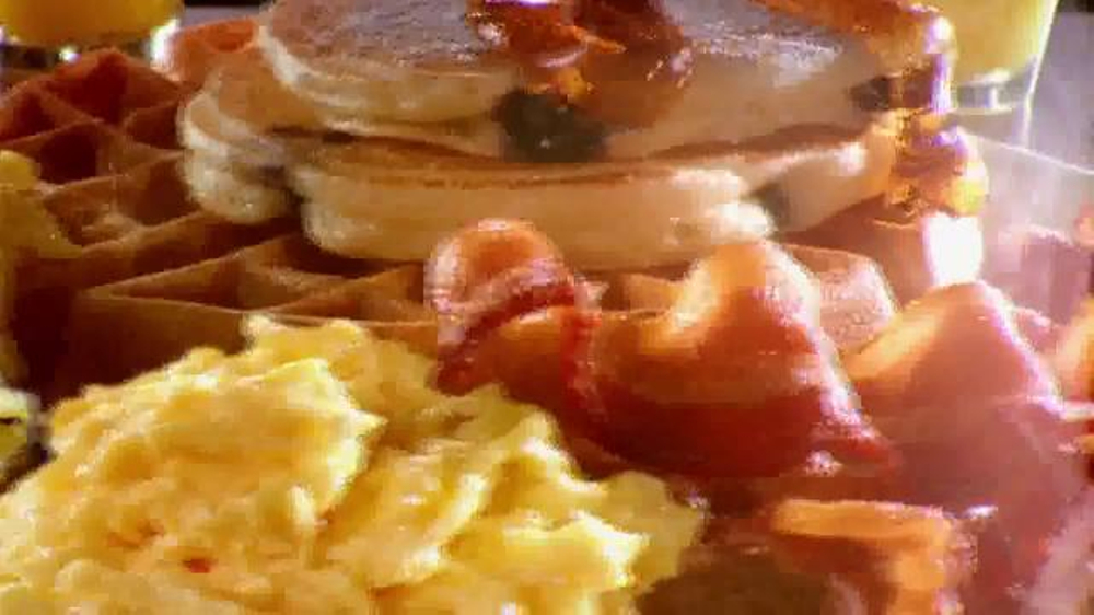 golden corral tv commercial   breakfast for lunch and