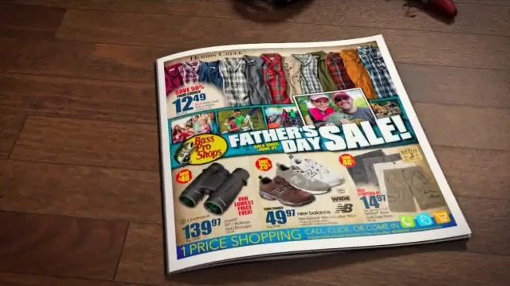 Bass pro shops father 39 s day sale tv commercial 39 shorts for Bass pro fishing sale