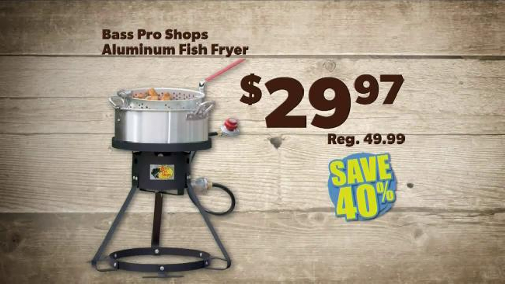 Bass pro shops father 39 s day sale tv commercial 39 shorts for Bass pro fish fryer