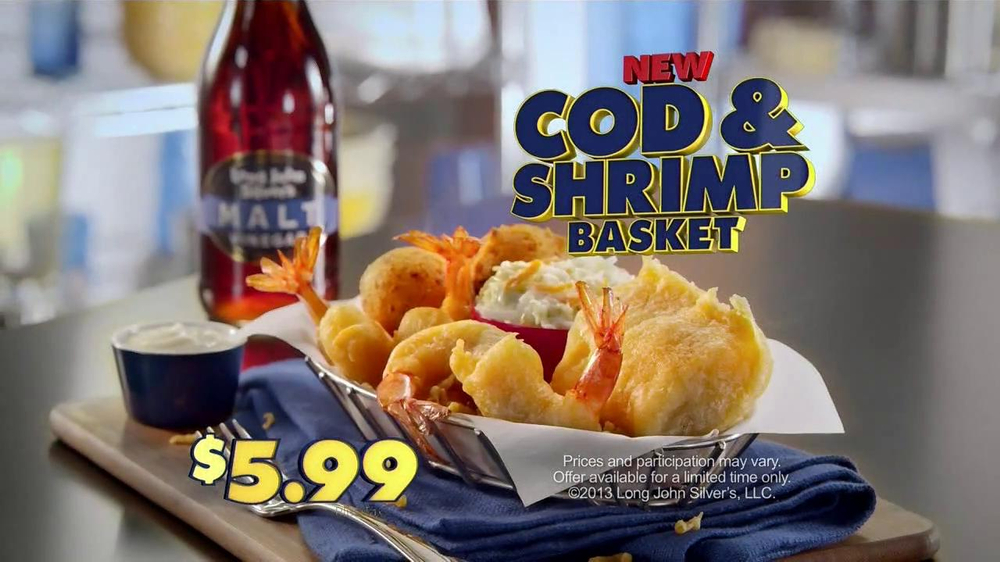 Long John Silver's Cod and Shrimp Basket TV Spot, 'Fish Sandwich' - Screenshot 7