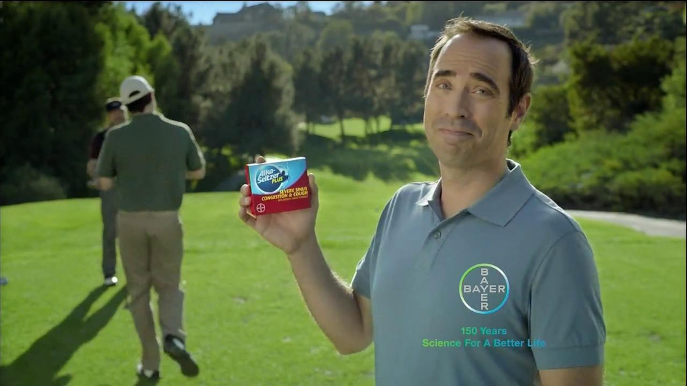 Alka-Seltzer Plus Severe Congestion and Cough TV Spot, 'Golf Cough' - Screenshot 7