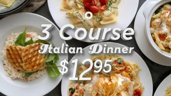 Olive Garden 3-Course Italian Dinner TV Spot