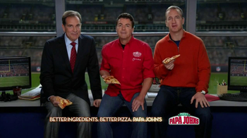 Papa John's Super Bowl XLVII Coin Toss Experience TV Spot Feat. Jim Nantz
