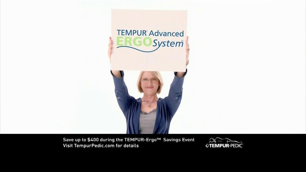 Tempur Pedic Ergo Savings Event Tv Commercial Ispot Tv