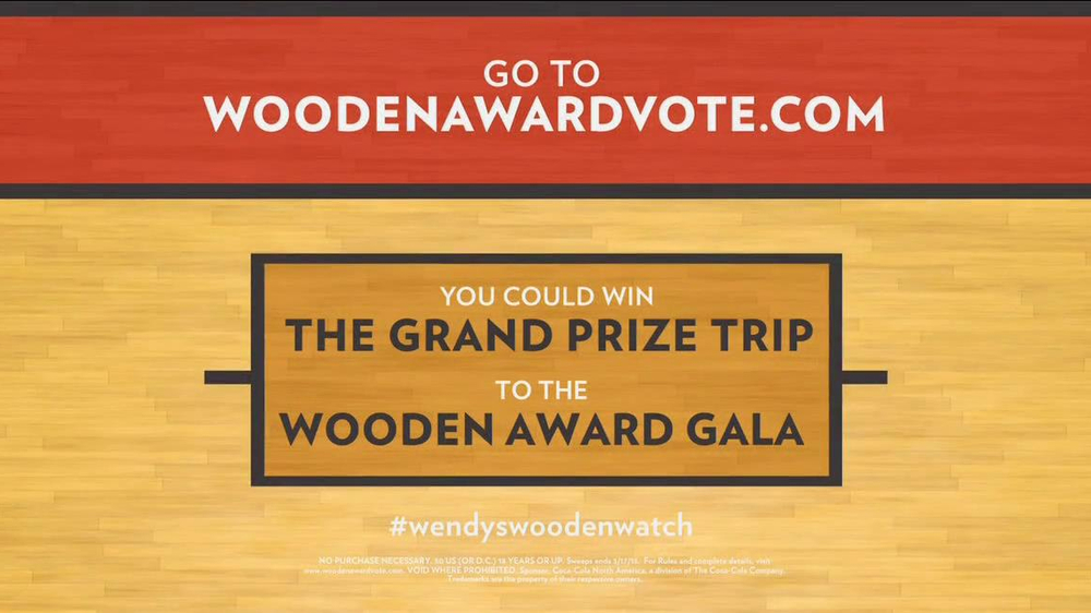 Wendy's TV Spot, 'Wooden Awards' Featuring Jay Bilas - Screenshot 6