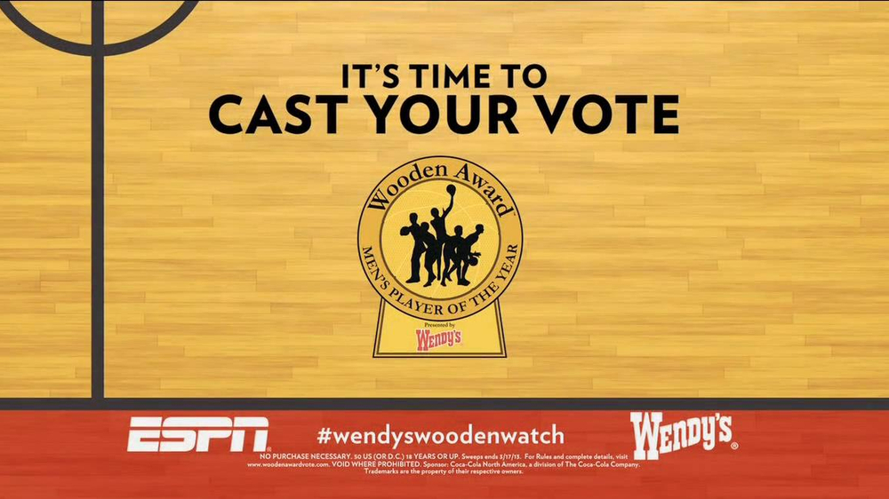 Wendy's TV Spot, 'Wooden Awards' Featuring Jay Bilas - Screenshot 7