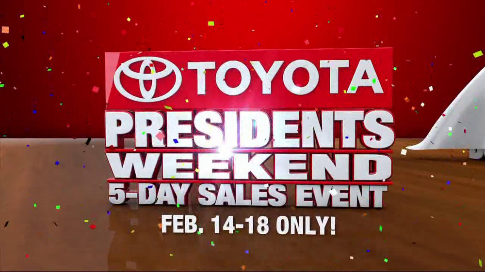Toyota President Weekend Sales Event TV Spot  - Screenshot 2