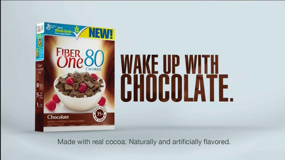 Fiber One Chocolate Cereal TV Spot, 'Wake up with Chocolate' - Screenshot 10
