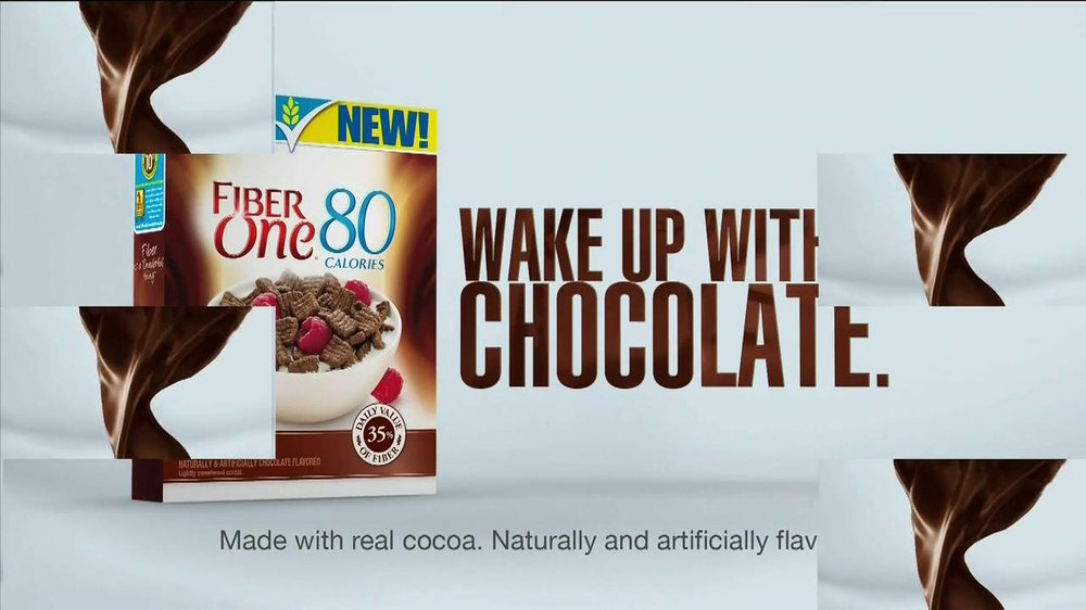 Fiber One Chocolate Cereal TV Spot, 'Wake up with Chocolate' - Screenshot 9