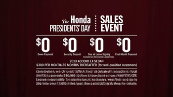 Honda Presidents' Day Sales Event TV Spot - Thumbnail 10