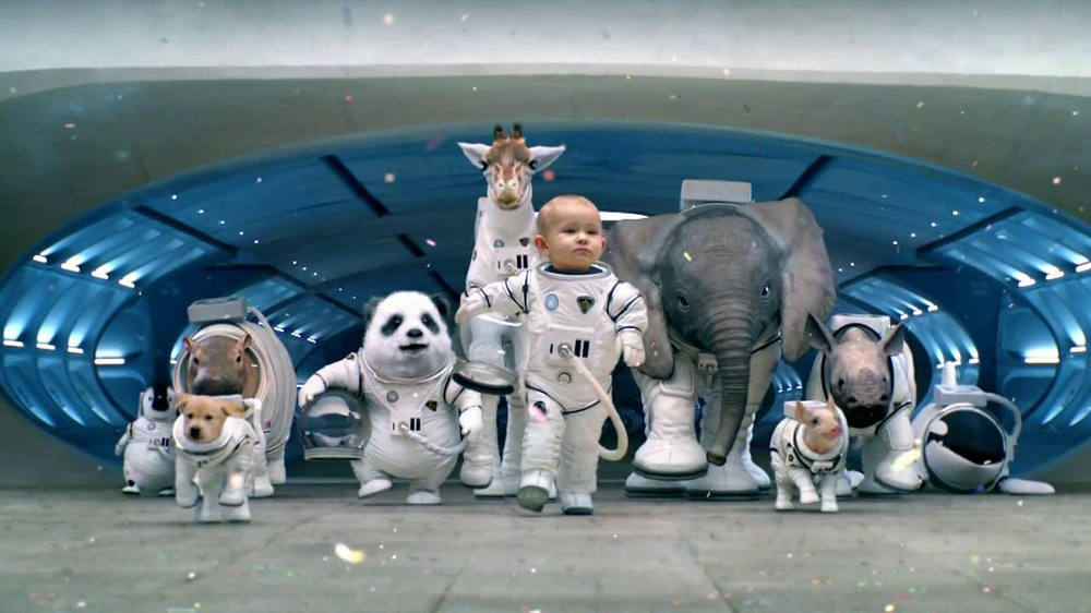 super bowl campaign space babies The campaigns that have been most successful this super bowl season  a  remarkable amount of familiar faces into the space of a commercial  from  mentions of puppy monkey baby, the mountain dew spot from 2016.