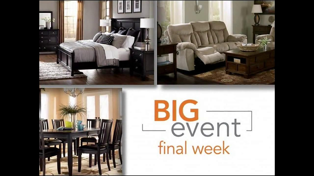 Ashley furniture homestore big event tv commercial 39 final week 39 Ashley home furniture weekly ad